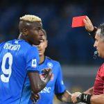 Fa discutere il rosso di Osimhen nella partita Napoli-Venezia